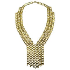 Vintage Deco 1930s Mesh Drop Necklace