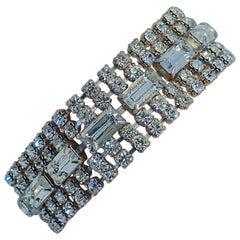 Clear Rhinestone Vintage Bracelet, 1950s