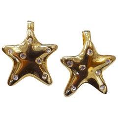 Whimsical Star & Crystals Earrings