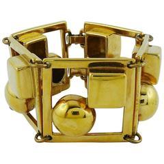 Paco Rabanne Vintage Space Age Cuff Bracelet
