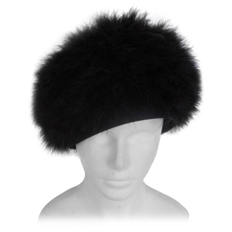 black marabou hat