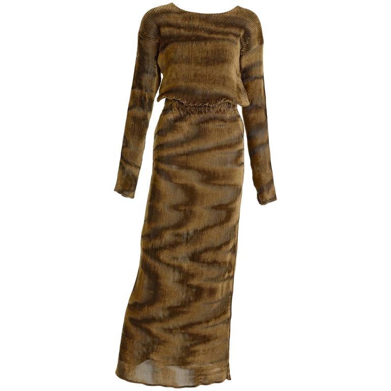 1990s ISSEY MIYAKE Pleateds Suit Dress