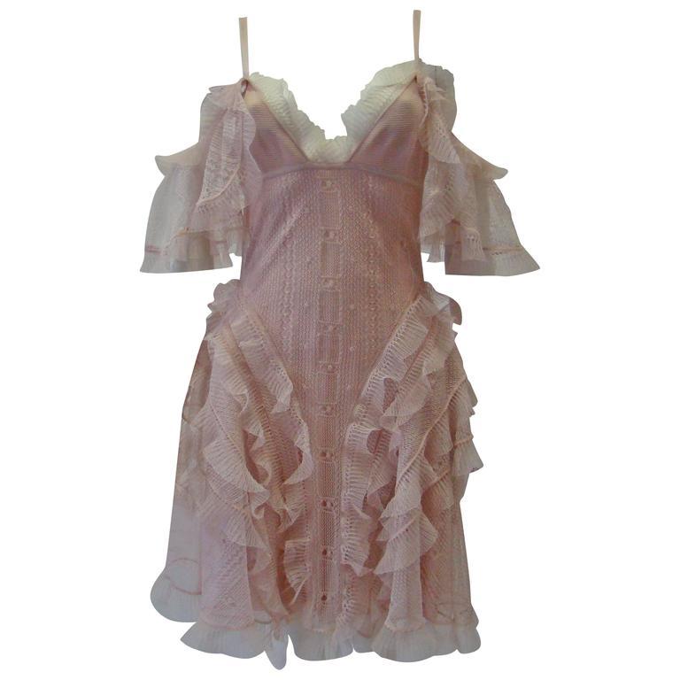 Alexander McQueen Silk Sheer Cocktail Dress