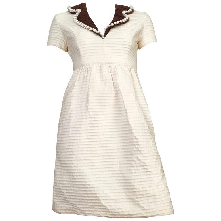 Oscar de la Renta Cotton Dress with Pockets Size 2.