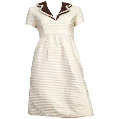Oscar de la Renta Cotton Dress with Pockets Size 2.