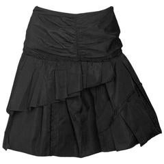 Marc Jacobs Black Pleated Taffeta Skirt sz US4