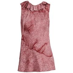 "Jean Paul Gaultier Burgundy and Pink Constellation ""Face"" Tank Top Shirt"