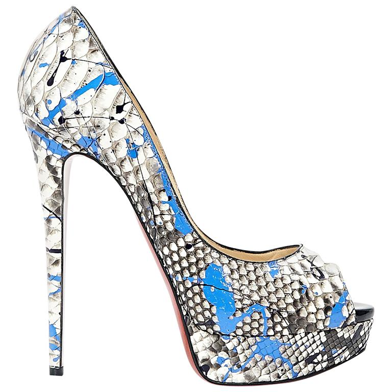 Multicolor Christian Louboutin Lady Graffiti Pumps For Sale