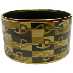 HERMES Enamel Optique chaine d'ancre bangle bracelet PM Size 6 cm