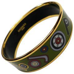 Hermès Tohu Bohu Printed Enamel Bracelet PM 6 cm / RARE