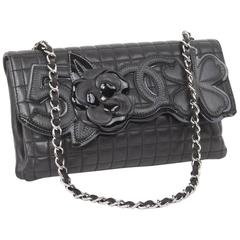 CHANEL Baguette Bag in Black Quilted Lamb Leather