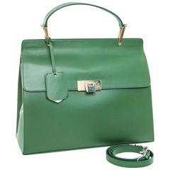 BALENCIAGA Handbag 'Le Dix' in Smooth Green Leather