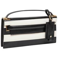 VALENTINO Model 'My Rockstud' Bag in Black and Beige Bicolour Leather
