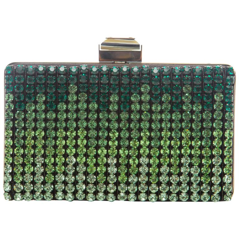 Alber Elbaz For Lanvin Minaudière Clutch Graduating Ombre Crystals, Spring 2012 For Sale