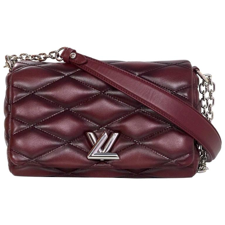 Louis Vuitton Burgundy Leather GO-14 Malletage PM Quilted Twist Bag