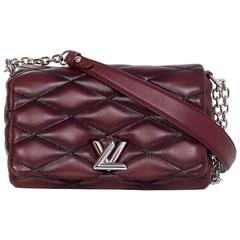Louis Vuitton Burgundy Leather GO-14 Malletage PM Quilted Twist Bag rt. $3950