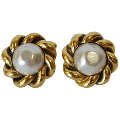 1989s Chanel Pearl Cufflinks