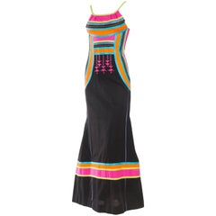 Morphew Collection Sexy Bright Cotton Dress with Embroidery