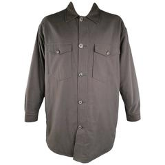 Men's MAISON MARTIN MARGIELA 42 Charcoal Cotton / Wool Oversized Shirt Jacket
