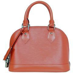 Louis Vuitton Orange Epi Leather Alma BB Crossbody Bag