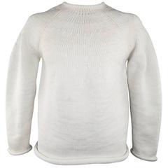 Yohji Yamamoto Off White Oversized Starched Sweater