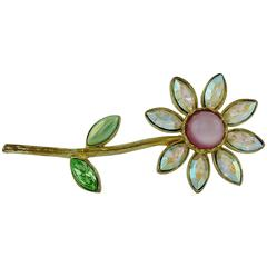 Christian Lacroix Vintage Jewelled Flower Brooch