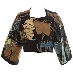Dries Van Noten Black Silk Embroidered Jacket, Spring - Summer 2006