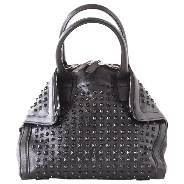 Alexander Mcqueen Bag Black On De Manta Tote Shoulder Strap For
