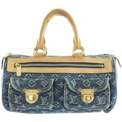 Louis Vuitton Denim Monogram Top Handle Bag - 2005