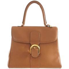 """Delvaux Vintage Cognac Leather """"Brilliant"""" MM Bag - GHW - Circa 1970"""