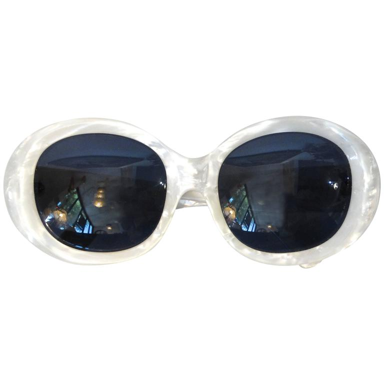 1960s Claude Montana Mother of Pearl Sunglasses 1