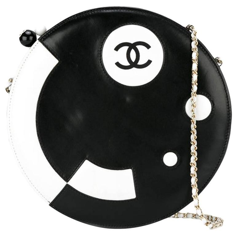Collector Chanel Round Lambskin Shoulder Bag 1
