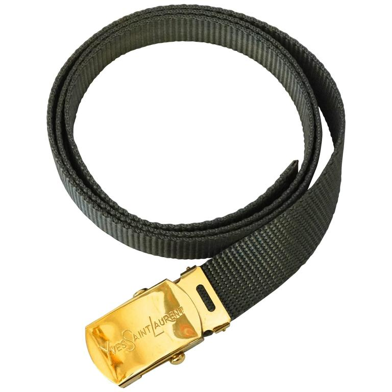 1980s Yves Saint Laurent Deadstock Nylon Belt  For Sale