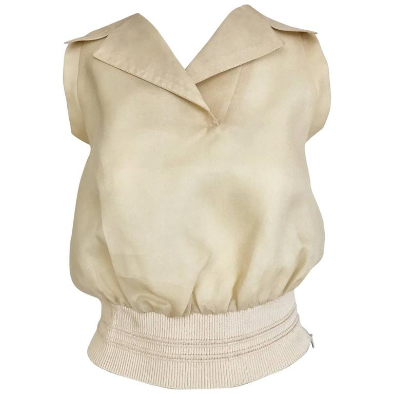 Vintage  Gianfranco Ferre ivory silk blouse