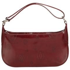 Cartier Red Bordeaux Patent Leather Handbag