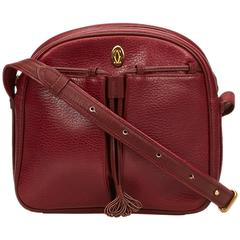 Cartier Red Leather Tasseled Must de Cartier Shoulder Bag