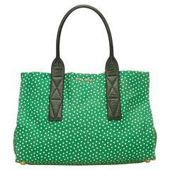 Miu Miu Green Tote Bag