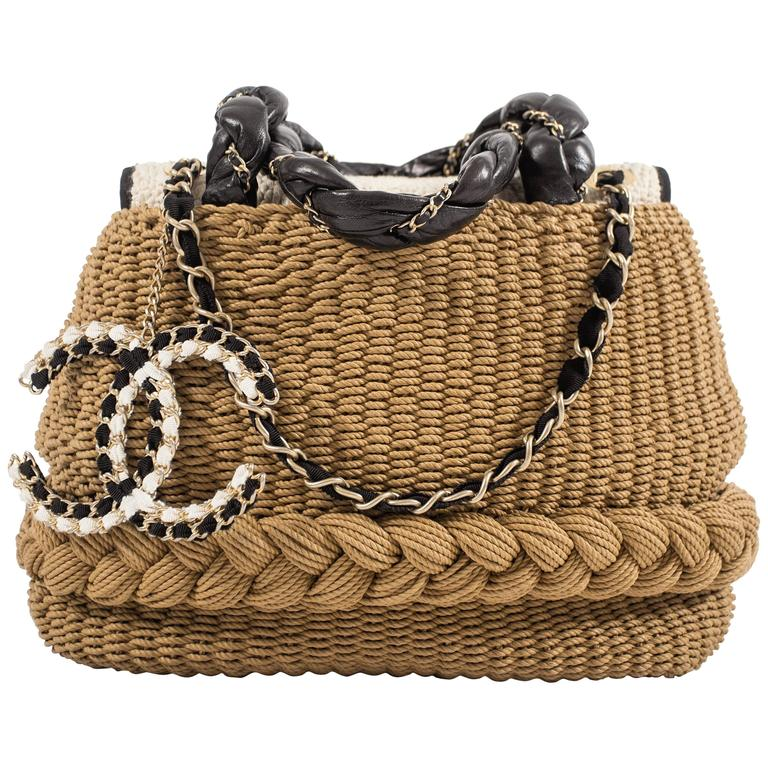 a790436831 Chanel Spring-Summer 2010 woven straw 'Coco Country' top handle basket bag