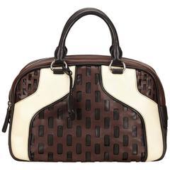 Miu Miu Brown Cutout Leather Handbag
