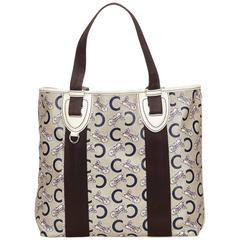 Celine White Canvas Tote Bag
