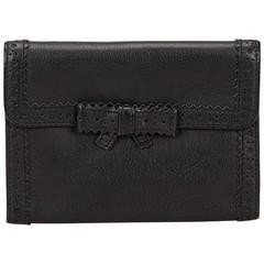 Miu Miu Black Perforated Leather Wallet