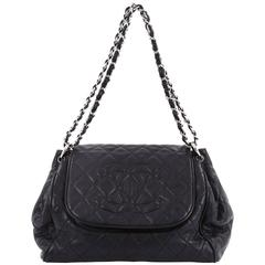 Chanel Timeless Accordion Flap Bag Quilted Caviar