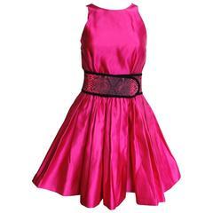 £2895 CHRISTOPHER KANE Sleeveless Pink Pleated Dress uk 8