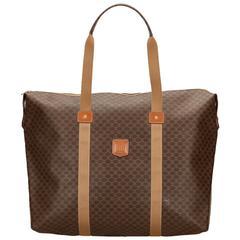 Celine Brown Macadam PVC Duffel Bag
