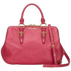 Miu Miu pink Leather Handbag