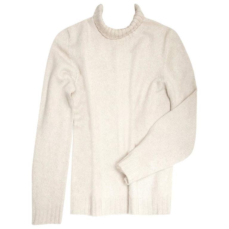 Hermès Ecru Cashmere Sweater