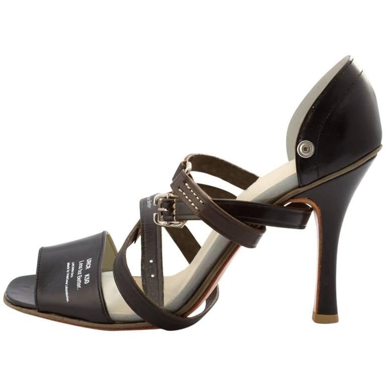 Undercover Ss 2010 Less But Better Black Strappy Heels