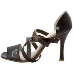 Undercover SS 2010 'Less But Better' Black Strappy Heels