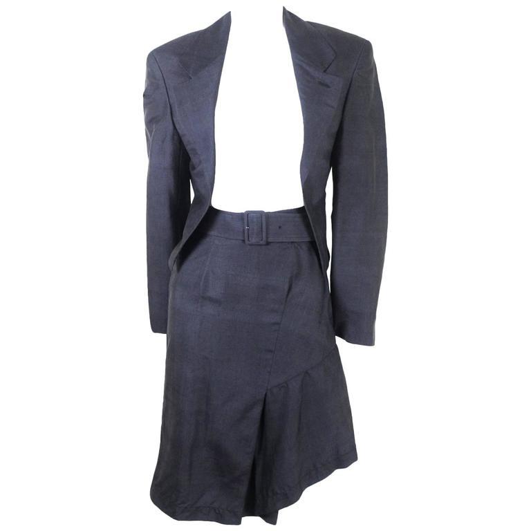 Comme des Garcons 1989 Collection Silk Suit
