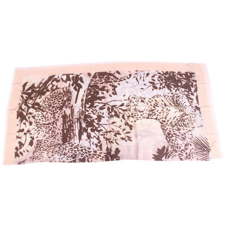 Salvatore Ferragamo Scarf Leopard Print - brown/gray/beige